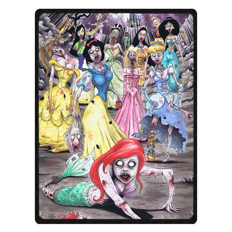 Zombie Princess Soft Warm Coral Fleece Plush Throw Blanket Sofa Bed Knee blankets Customize Baby Child Bedspread