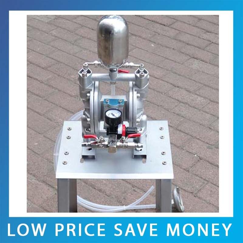 18L min Pneumatic Double Diaphragm Aluminum Alloy Material Paint Pump Mini Ink Diaphragm Pump
