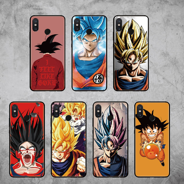 Para Xiaomi mi rojo mi Pocophone F1 Nota 5 5 5 6 6 7 8 9 lite Pro Plus Goku Dragon Ball Super funda suave para teléfono DBZ Cool