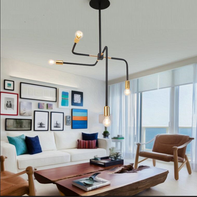 Modern structure indoor lighting Black  gold pendant lights iron lamps living dining room bar coffee light fixture fashion modern lamps led ceiling lights indoor lighting gold electropla living dining room bedroom bar shop light fixture
