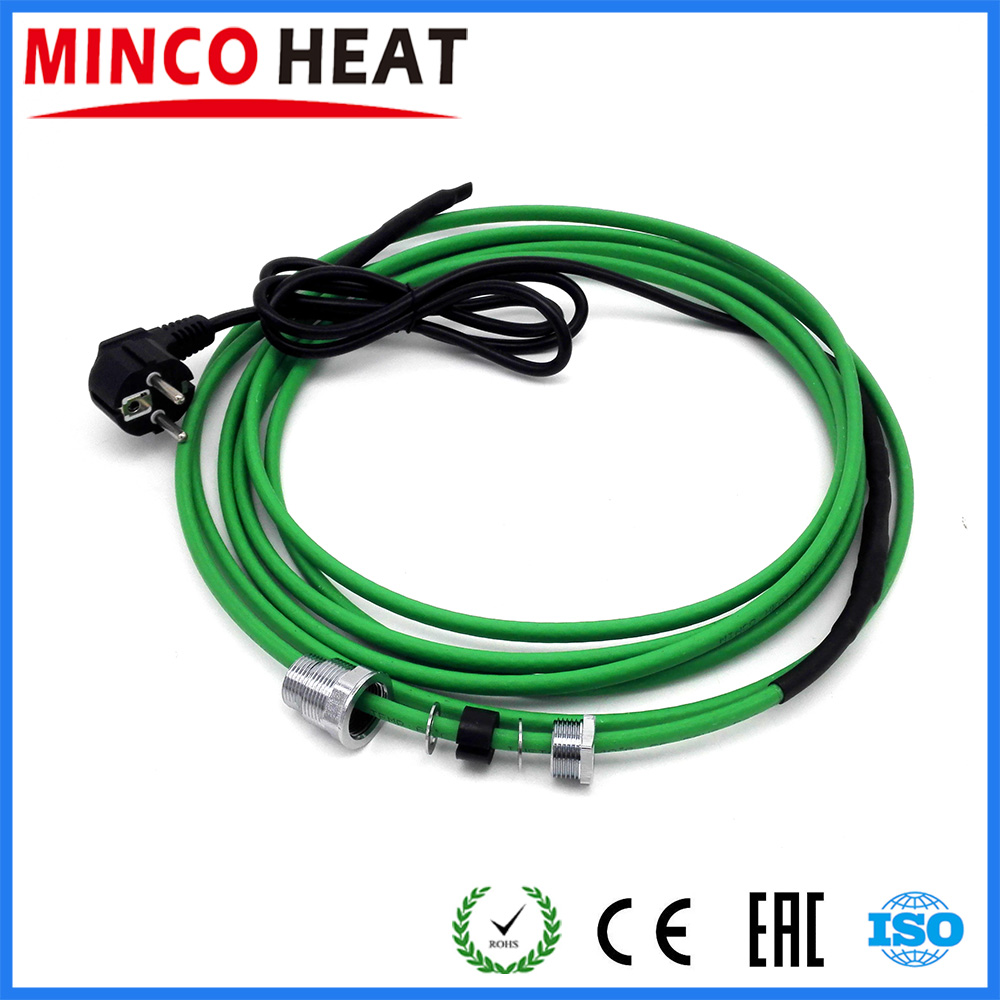 26 35m Pre assembled Antifreeze Heating Cable Inside Pipe Coupling Cable 220V 17W m