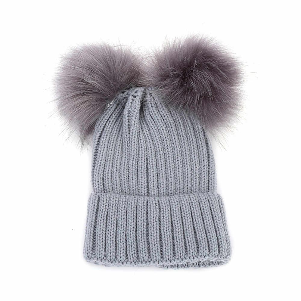 2018 Hot Sale Boy Girls Warm Crochet Winter Wool Knit Ski Beanie Skull Slouchy Caps Hat Dropship 171020