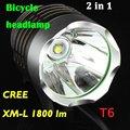 1800 Lumen CREE XM-L T6 LED Bicycle bike Headlamp HeadLight Lamp Flashlight Light With 6400mAh 8.4v battery & Charger