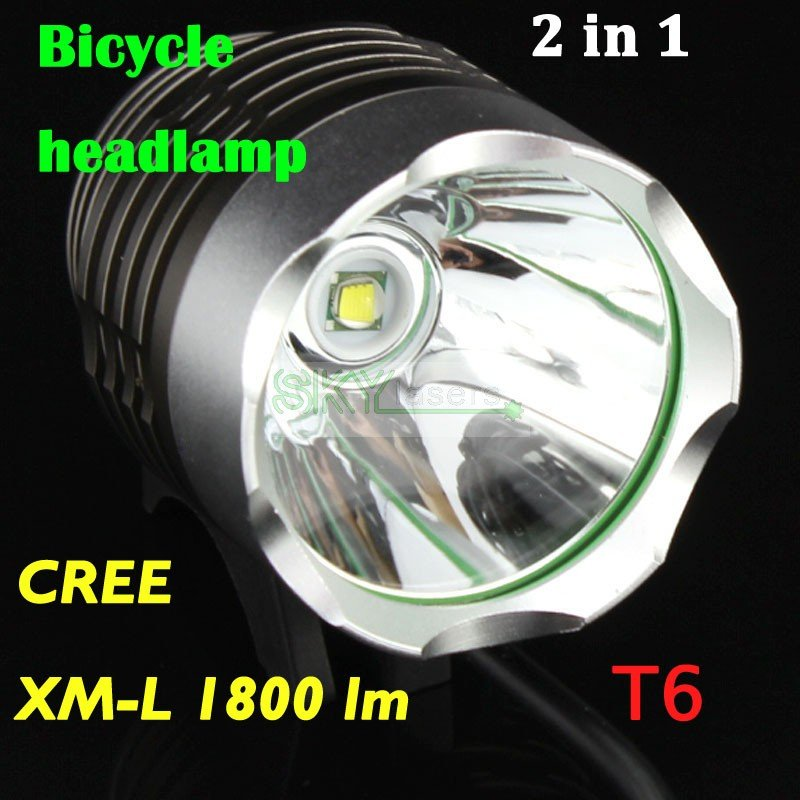 все цены на 1800 Lumen XM-L T6 LED Bicycle bike Headlamp HeadLight Lamp Flashlight Light With 6400mAh 8.4v battery & Charger онлайн