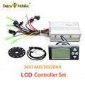 JS 36V 250W 350W 500W контроллер ЖК-дисплей измеритель PAS набор E велосипед конверсионный комплект Двойной Режим Датчик Холла и Холла Бесконтактный