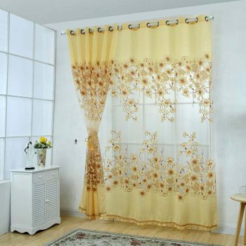 New Sheer Voile Curtains Beads Door Chic Room Flower Sheer Curtain For Living Room Home Decoration corta cinturon de seguridad