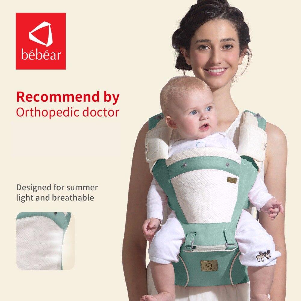 Bebear nuevo hipseat prevenir o-tipo piernas 6 en 1 lleva la carga del estilo 20 kg ergonómico portabebés exclusivo ahorrar esfuerzo del esfuerzo