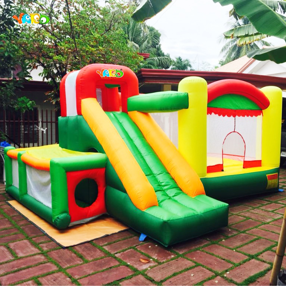 все цены на  YARD Outdoor Bounce House Inflatable Toys Kids Jumping Castle with Slide Special Offer for Asia  онлайн