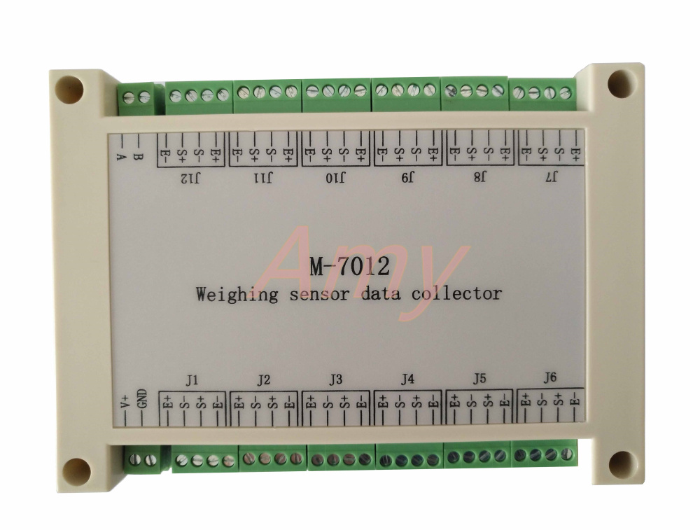 M-7012 12 way weighing sensor acquisition module based on RS485