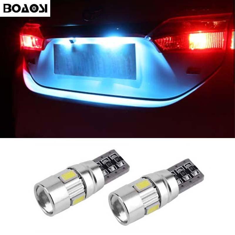 BOAOSI 2x <font><b>Canbus</b></font> Error Free T10 W5W 5630 Car <font><b>LED</b></font> Number Plate Lights Bulbs For Opel Adam Corsa C Corsa C Combo Corsa D Astra H
