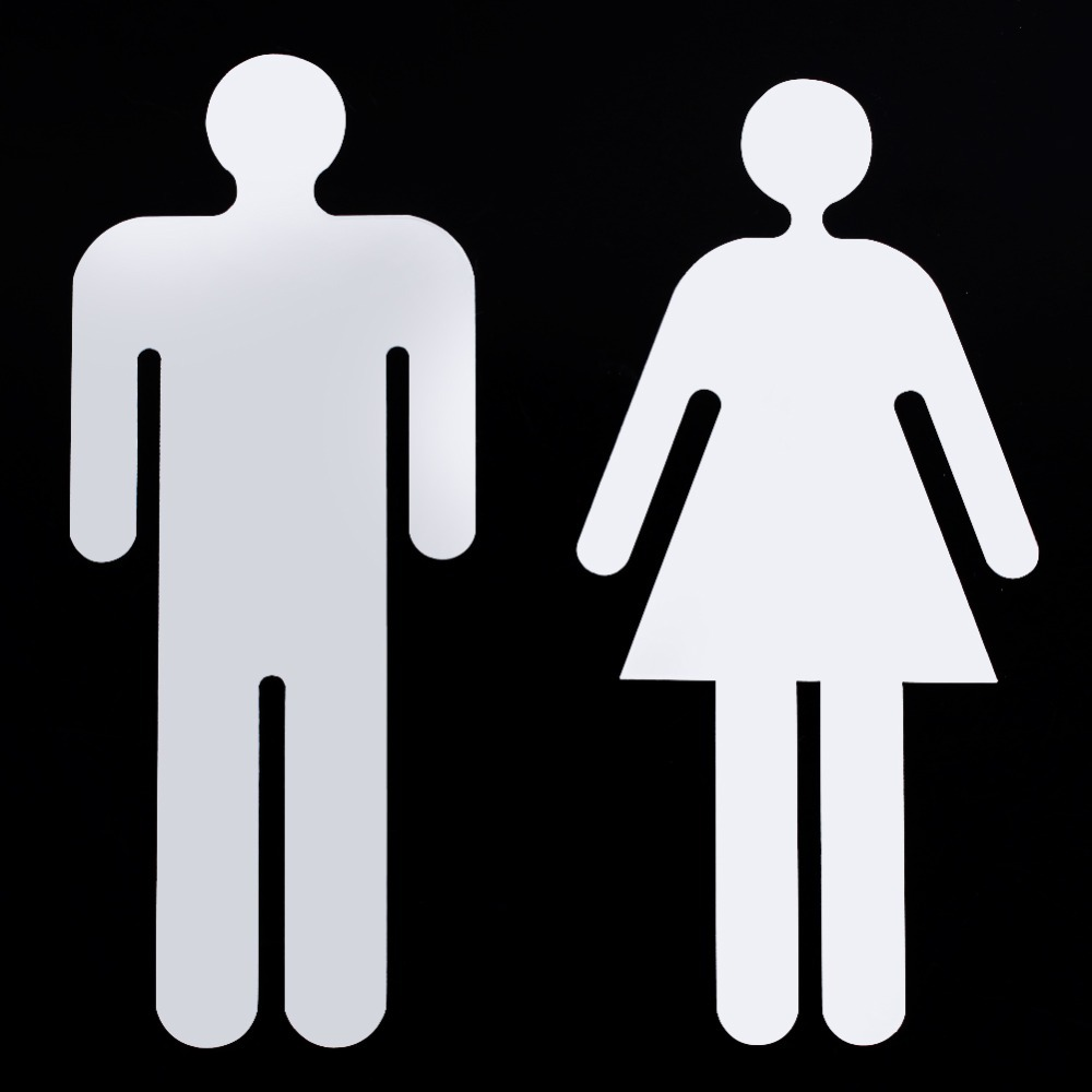 Male bathroom sign - Xin Man Woman Toilet Signage Wc Decals Toilet Sign 3d Sticker Restroom Washroom Logo Plaque For