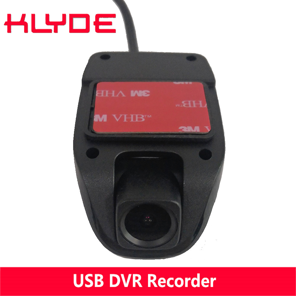 KLYDE HD USB DVR Front Recorder Camera Cycle Recording for Android 4.4 5.1 6.0 7.1 8.0 C500 C500+ Car Radio Player