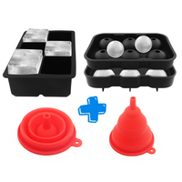 Creative 6 Hole Beer Whiskey Cocktail Ice Cube Ball Maker Party Bar Silicone Ice Hockey Mold