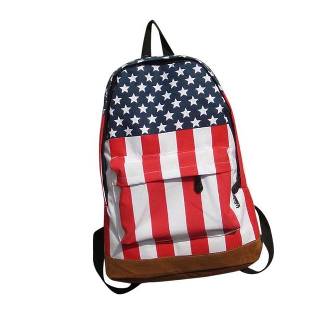 1e4d46639ef 2017Most Popular Unisex Canvas School Backpack Nation Flag Printing Bag  Women s Backpack Women Men Fashion Durable Rucksacks A8
