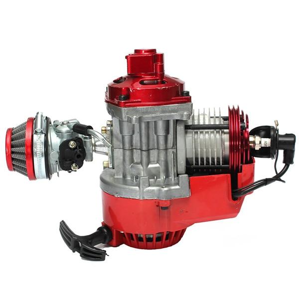 49cc Manual Racing Engine Red Mini Pocket Minimoto Air Cooled Atv