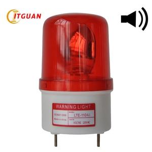 Luz de advertencia incandescente Industrial, LTE-1104J, alarma de sonido de 90dB, lámpara de advertencia de emergencia giratoria de 10W, Color rojo, amarillo, azul, verde