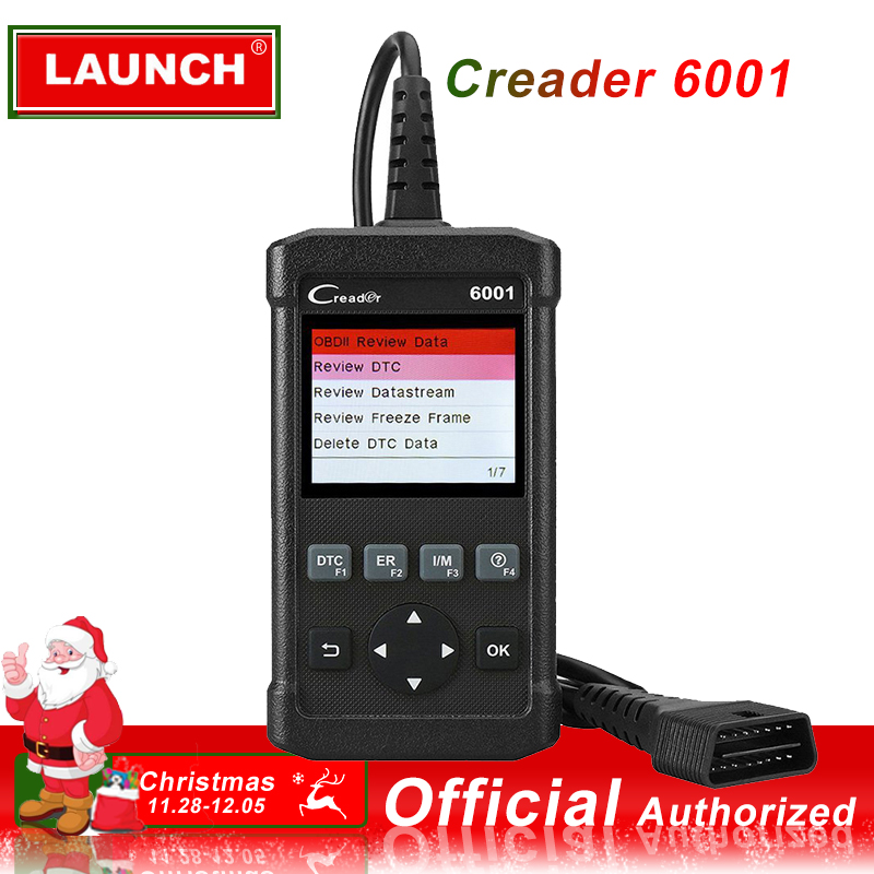 Launch Creader 6001 OBD2 Car Code Reader Scanner Automotive Diagnostic Tool Universal Auto Diagnose Turn Off Light CR6001 OBD 2
