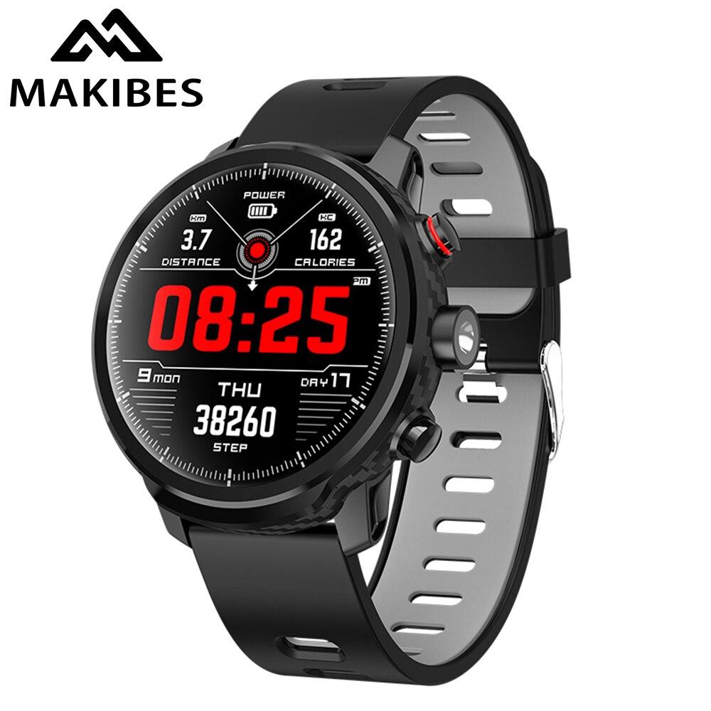 Makibes L5 montres intelligentes en veille pour 100 jours IP68 étanche temps Smartwatch Support Led éclairage Message rappel d'appel