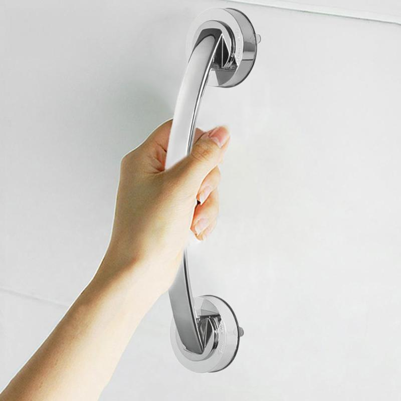 Bathroom Suction Cup Handle Grab Bar for Shower Safety Cup Bar Tub Glass Door Anti-slip Handrail Bathroom Grab Handle Rail Grip