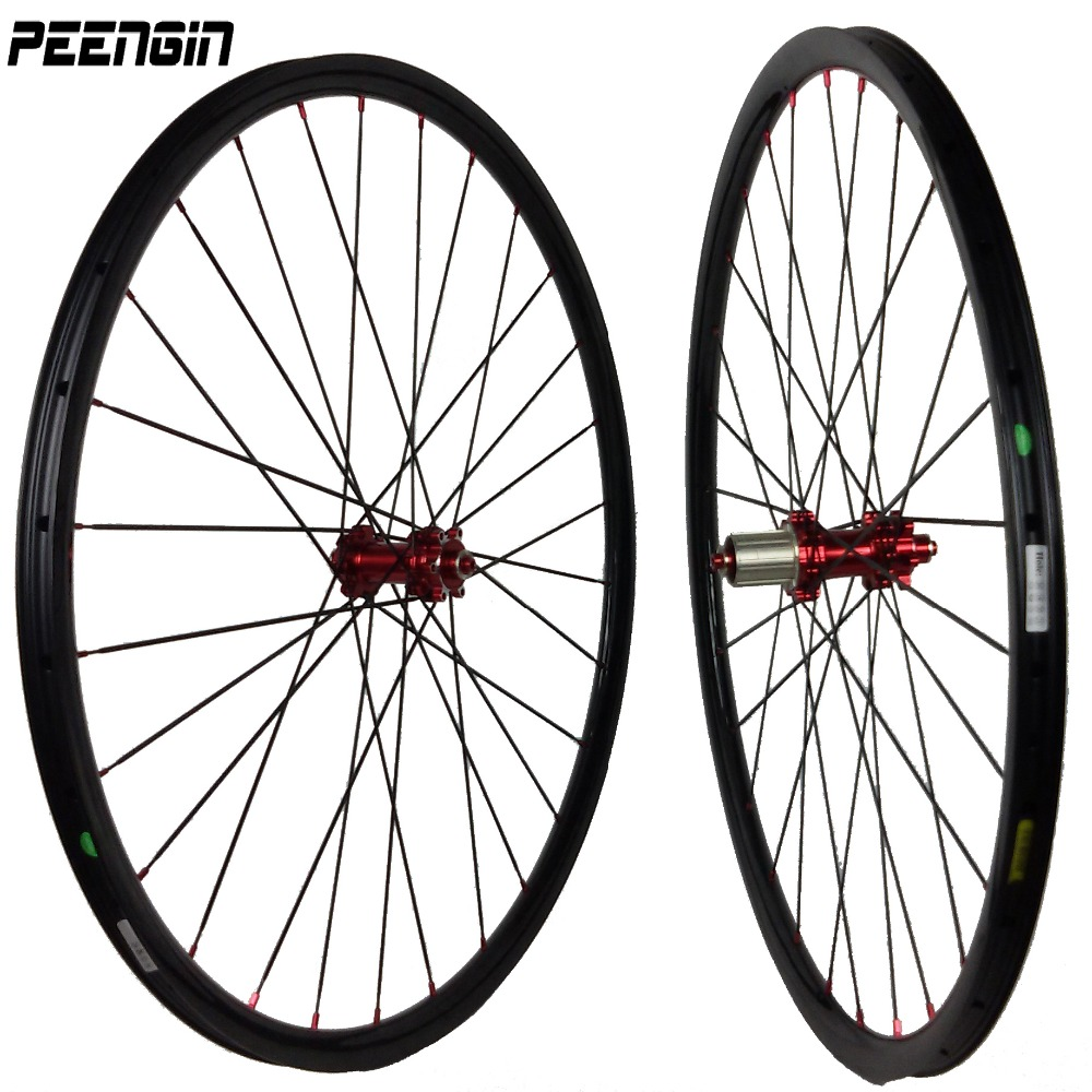 Hot sale Super light carbon 26er MTB wheelset 1300g only 27.5inch plus XC wheels bicycle 29er tubeless rim online DIY painting light bicycle roda mtb 29 carbon rear wheels