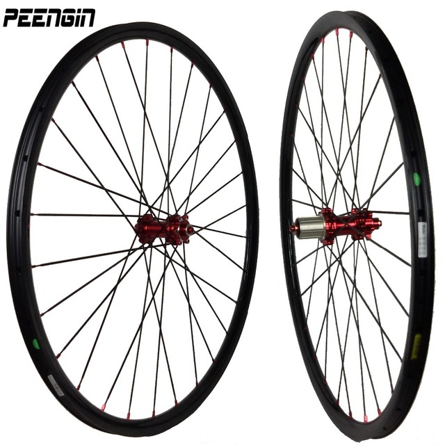 Hot sale Super light carbon 26er MTB wheelset 1300g only 27.5inch plus XC wheels bicycle 29er tubeless rim online DIY painting