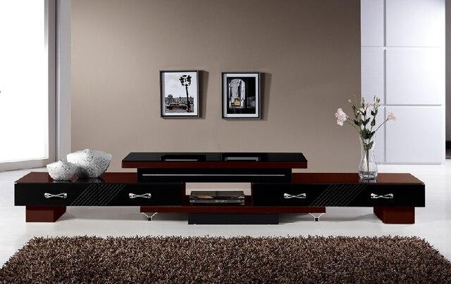 Korte verf gehard glas tv meubel intrekbare koffie kabinet tv kast