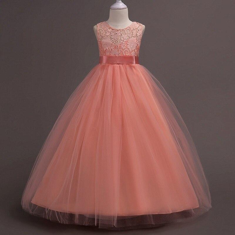 Платье с цветочным узором для девочек; Пышные свадебные вечерние платья с красным прицепом для девочек; кружевное вечернее платье принцессы для первого причастия - Цвет: Фиолетовый