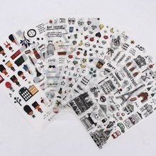 European Style Travel Diary Paper Sticker Decoration Planner Scrapbooking Label Sticker Kawaii Korean Gifts Stationary Stickers vintage airplane stamps paper environmental stickers decorative diy travel notebook planner sticker scrapbooking