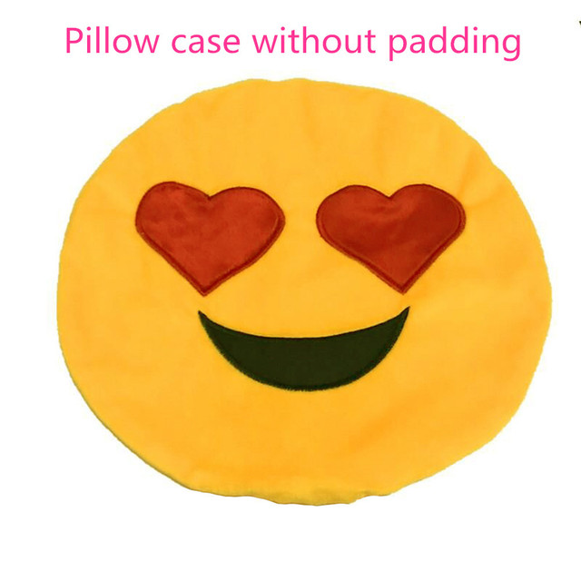 32cm Soft Emoji Smiley Emoticon Round Cushion Pillow Sofa case Stuffed Plush Toy Doll Christmas Emoji best Christmas gift YC127 2