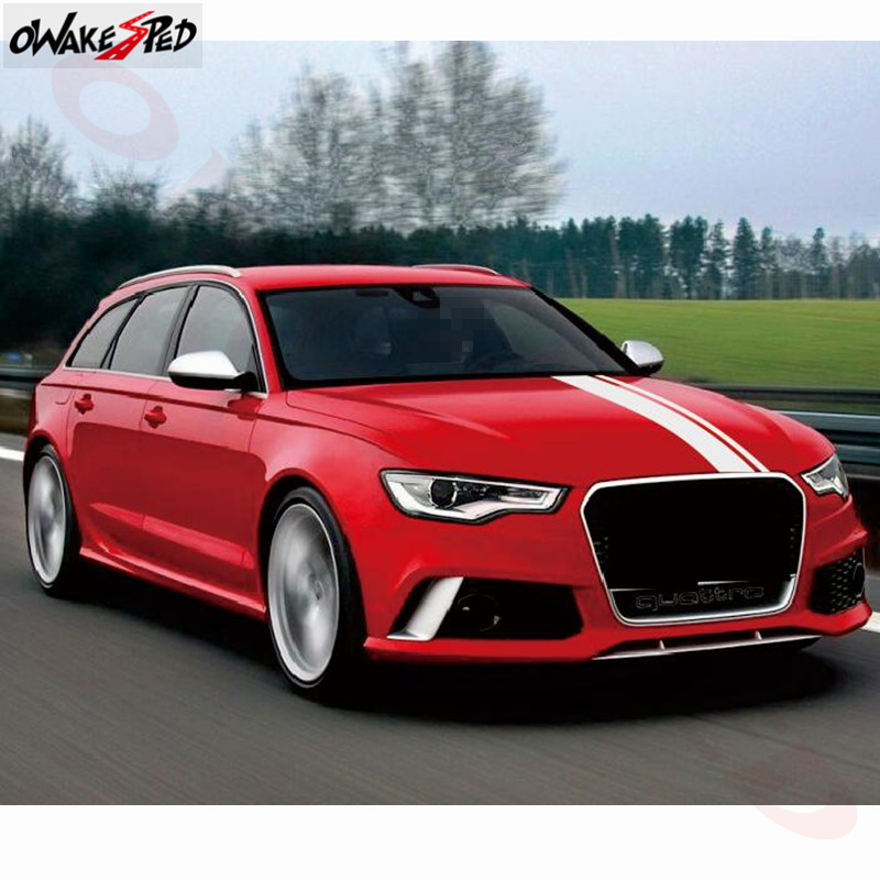 cheapest Racing Sport Styling Car Hood Decor Sticker For Audi RS RS3 RS4 RS5 RS6 RS7 TT RS RS Q3  Auto Head Accessories Vinyl Decal
