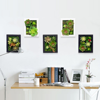 3D Creative metope succulent plants artificial cactus imitation wood photo frame wall decoration artificial flowers home decor