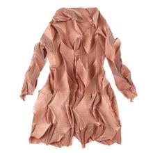 Vestido moda plisadas abrigo