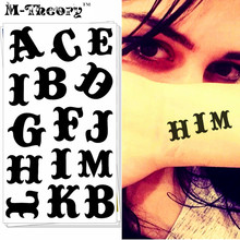 M-theory English Letters Choker Makeup Temporary 3d Flash Tattoos Sticker Henna Tatoos Tatouage Body Arts Tatto
