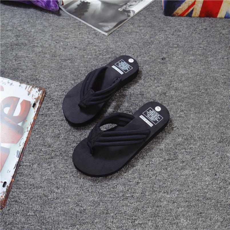 SAGACE Shoes Flip flops fashion Summer Flip Flops Casual Slippers Flat Sandals Beach Open Toe casual shoes women 2018JU12
