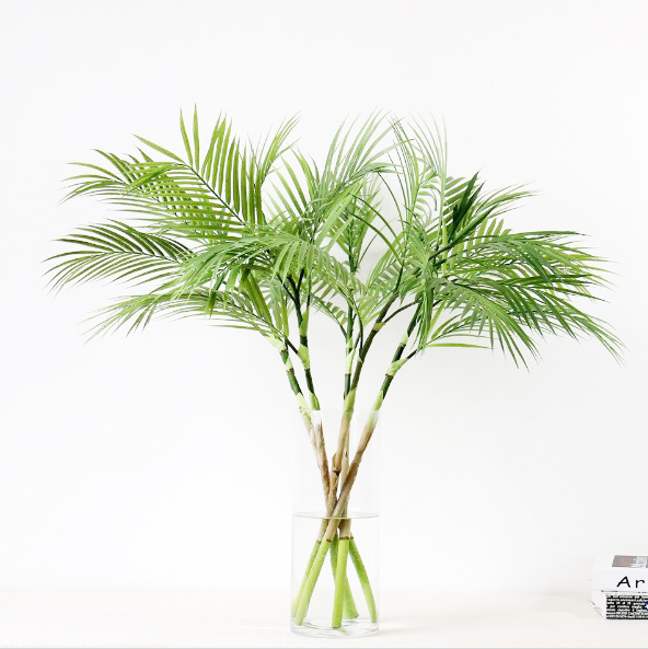 Artificial Palm Tree Branches For Home Garden Fall Decoration Fake Green Plants Branch Indoor