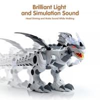 電子ペットウォーキング恐竜轟音点滅ライトサウンド電子玩具ロボット教育ゲーム機子供のためのギフト