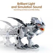 Electronic Pet Walking Dinosaur Roaring Flashing Light Sound