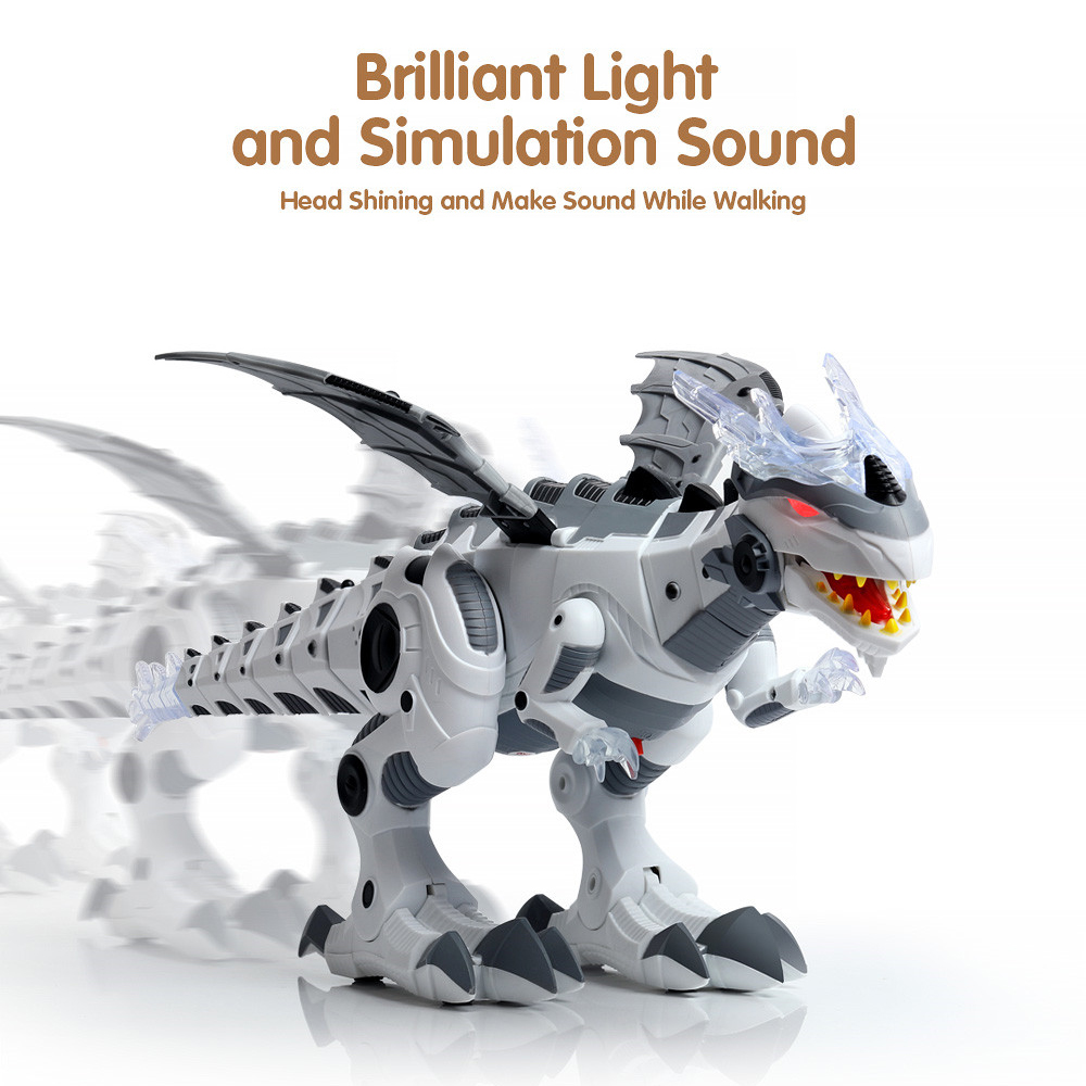 Electronic Pet Walking Dinosaur Roaring Flashing Light Sound Electronic Toys Robot Educational Game Machine Gift For Children