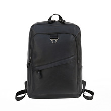 2019 fashion soft pu leather men back backpack for teenager capacity multifunction rucksack schoolbags leisure bagpack sac a dos