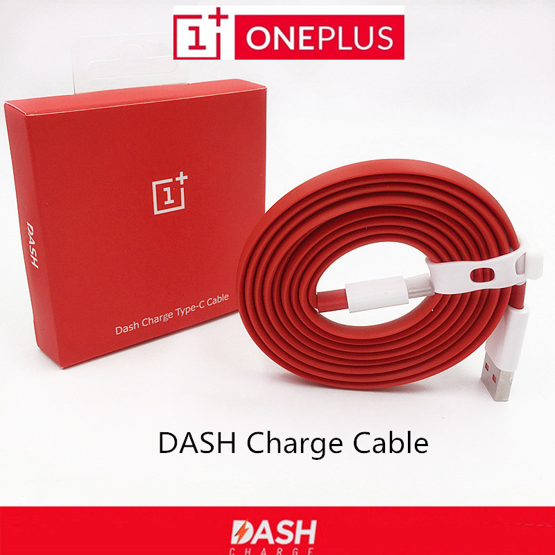 Original ONEPLUS 5 3 3T Dash Charge Cable 100cm 150cm Red Noodles Fast Charger Cable For One plus Three Five Mobile Phones