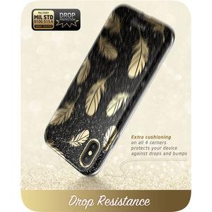 Image 4 - Iphone Xs 最大ケース i ブレゾンコスモシリーズ全身シャイニングブリンブリングリッター羽バンパーケースと内蔵スクリーンプロテクター