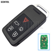 QCONTROL Remote Key Smart Card Car Alarm for Volvo XC60 S60 S60L V40 V60 434Mhz with ID46 Chip