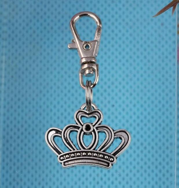 Vintage Silvers Tiger Magic Cap Knight Football Helmet Heart Angel Imperial Crown Key Chains Keychain For Keys Car 20PC S297