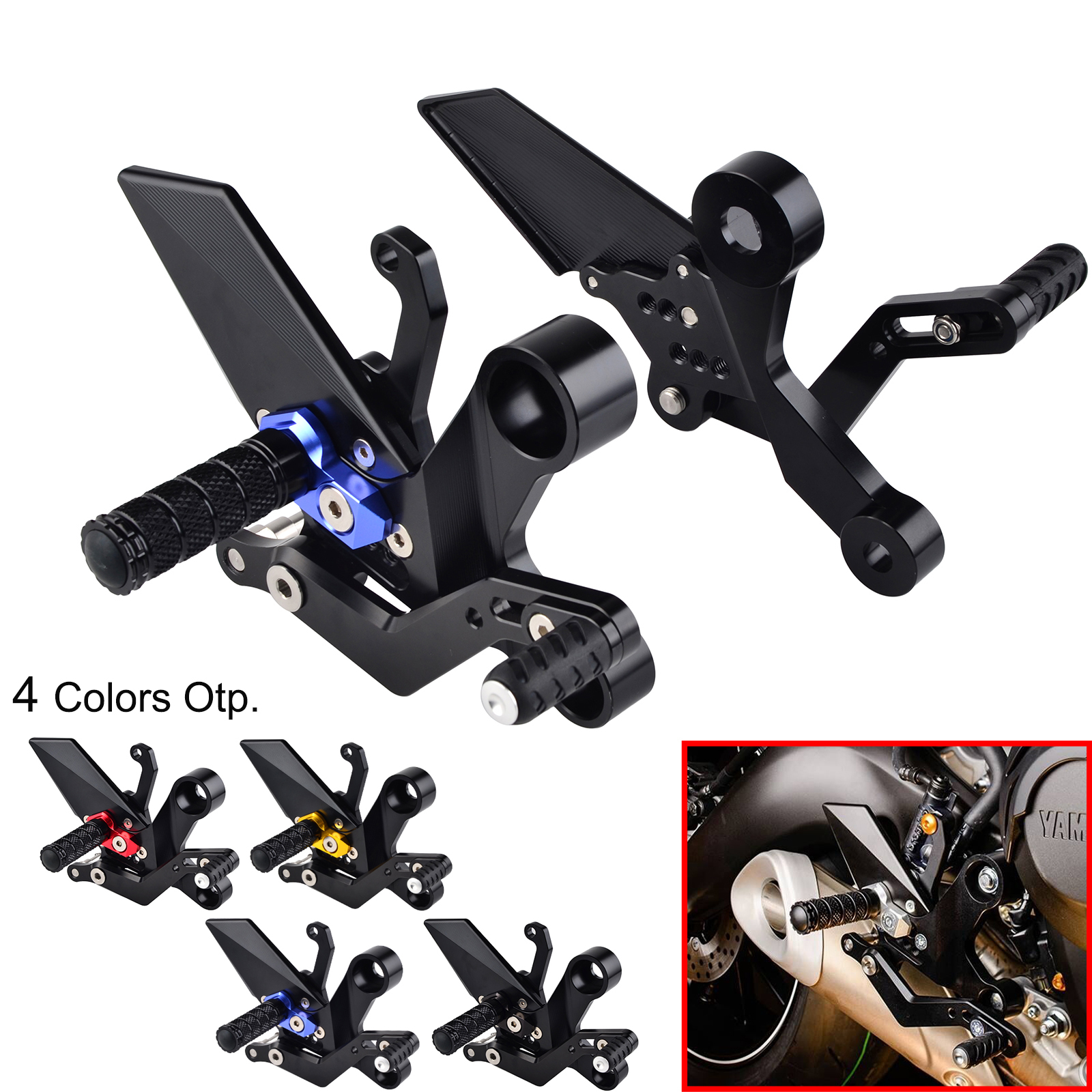 Motorcycle Adjustable Rearset Footrest Foot Pegs Rear Sets For Yamaha MT-09 MT09 MT 09 Tracer XSR900 2013 - 2015 2016 2017 2018