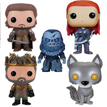 цена FUNKO POP Anime Game of Thrones Jon Snow Collectible Model Toys Lannister Vinyl Movie Action Figures Toys онлайн в 2017 году