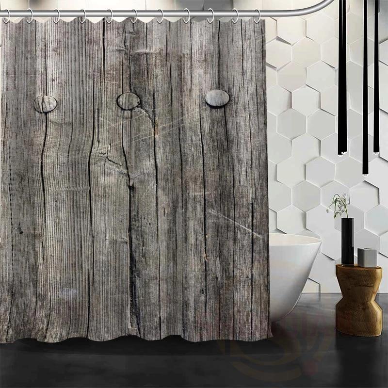 best nice custom old barn wood shower curtain bath curtain waterproof fabric for bathroom more size w 25