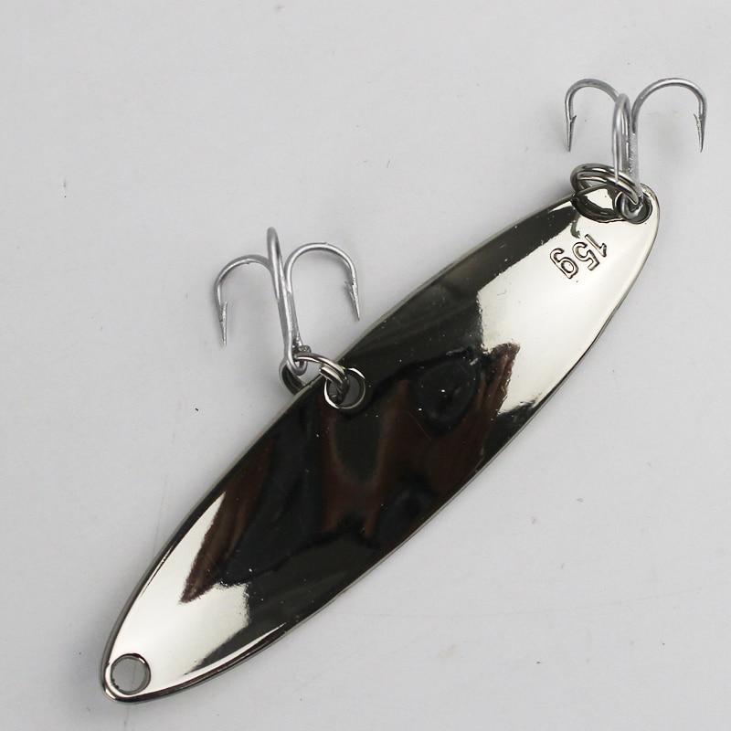 Visaas 10g 15g Hyperbola pailletten lokt metalen spinner lepel vissen - Visvangst - Foto 4