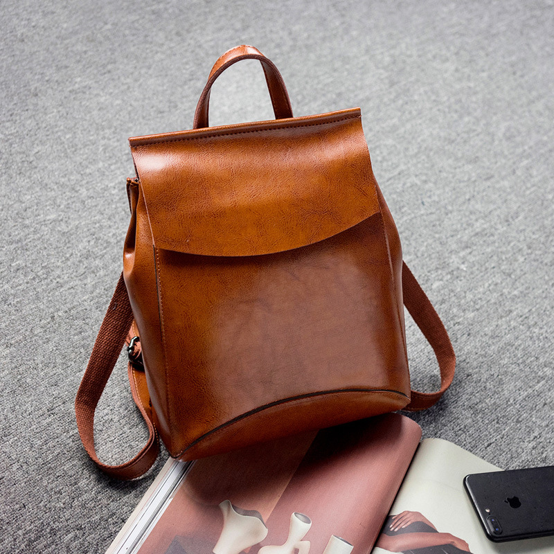 High Quality Leather Backpacks for Teenage Girls Female School Shoulder Bag Fashion Academy Wind Lady Shoulder BagHigh Quality Leather Backpacks for Teenage Girls Female School Shoulder Bag Fashion Academy Wind Lady Shoulder Bag