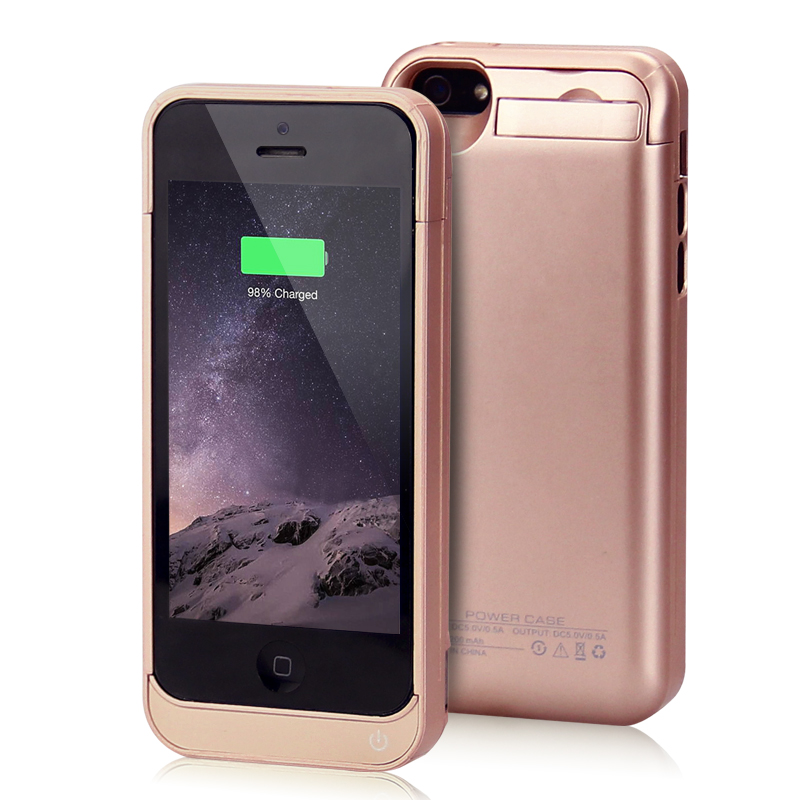 online retailer a0c8f b79d9 US $22.0 |4200mAh Battery Case for iphone 5s Portable power pack Charger  Backup Power Bank for iPhone 5 case Rose gold new arrival-in Mobile Phone  ...