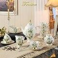 Европейский чайный набор Camellia Bone China  британский фарфоровый чайный набор  керамический горшок  сливки  сахарная чаша  чайный чайник  кофейна...